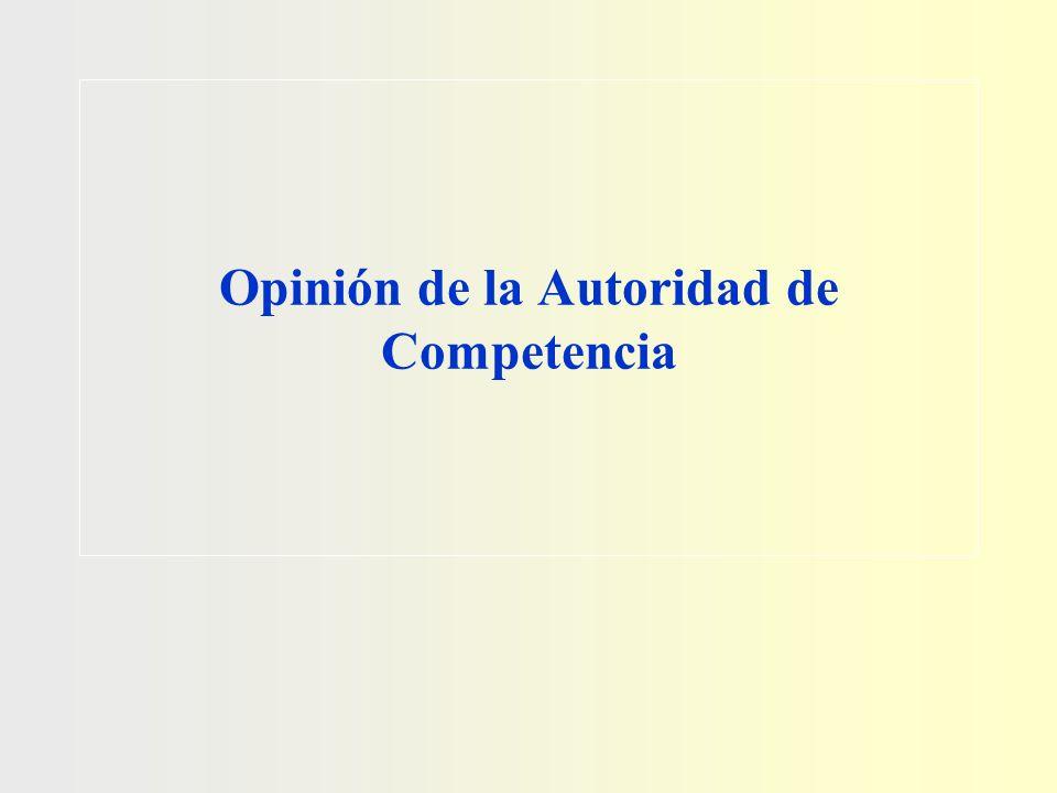 Opinión de la Autoridad de Competencia
