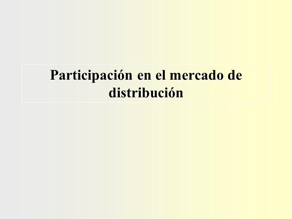 Participación en el mercado de distribución