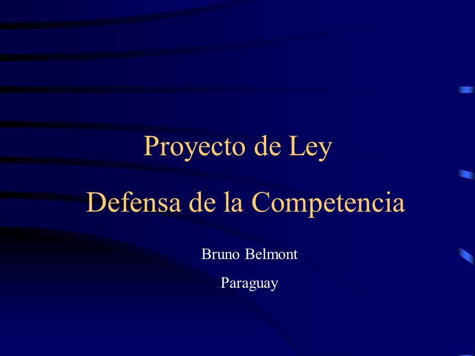 Proyecto de Ley Defensa de la Competencia Bruno Belmont Paraguay