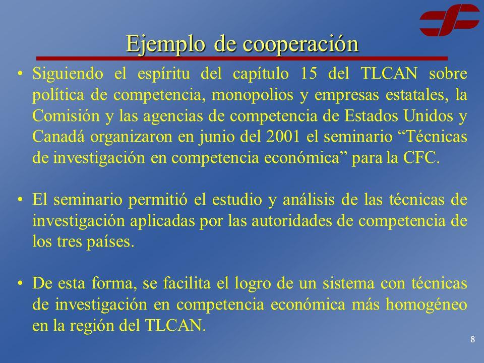 7 Cooperación bilateral y multilateral Asimismo, se están desarrollando capítulos de competencia en las negociaciones de libre comercio con: Uruguay.