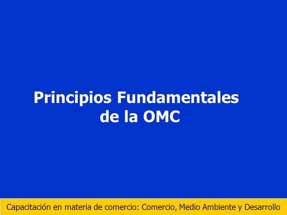 Principios Fundamentales de la OMC Capacitación en materia de comercio: Comercio, Medio Ambiente y Desarrollo