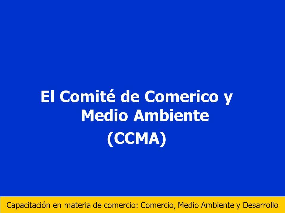 El Comité de Comerico y Medio Ambiente (CCMA) Capacitación en materia de comercio: Comercio, Medio Ambiente y Desarrollo