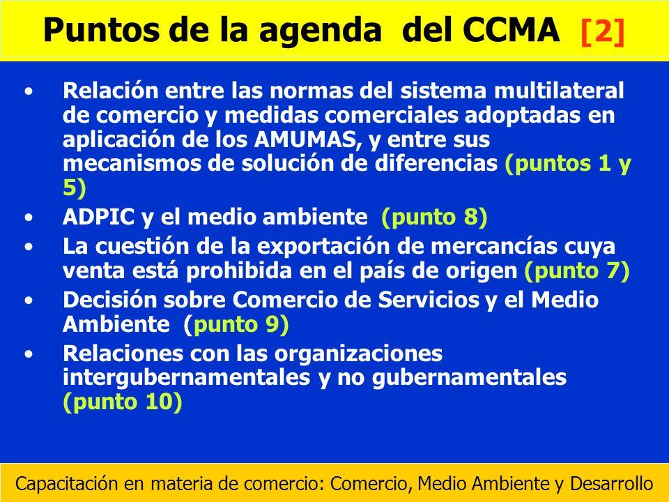 Relación entre las normas del sistema multilateral de comercio y medidas comerciales adoptadas en aplicación de los AMUMAS, y entre sus mecanismos de