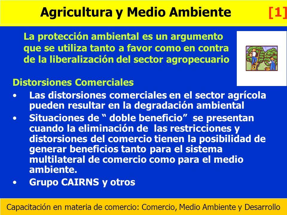 La protección ambiental es un argumento que se utiliza tanto a favor como en contra de la liberalización del sector agropecuario Distorsiones Comercia
