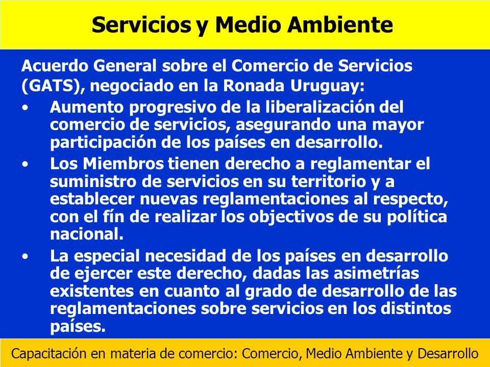 Acuerdo General sobre el Comercio de Servicios (GATS), negociado en la Ronada Uruguay: Aumento progresivo de la liberalización del comercio de servici