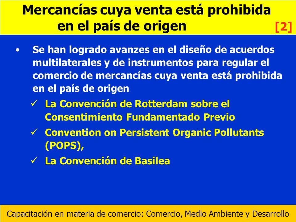 Se han logrado avanzes en el diseño de acuerdos multilaterales y de instrumentos para regular el comercio de mercancías cuya venta está prohibida en e