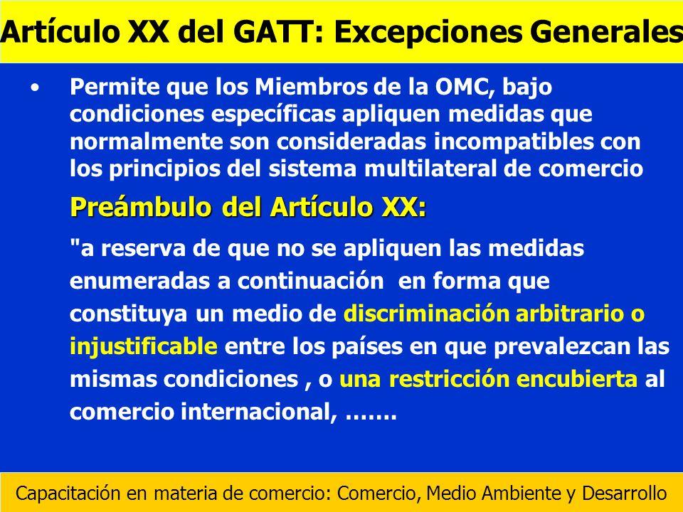 Permite que los Miembros de la OMC, bajo condiciones específicas apliquen medidas que normalmente son consideradas incompatibles con los principios de