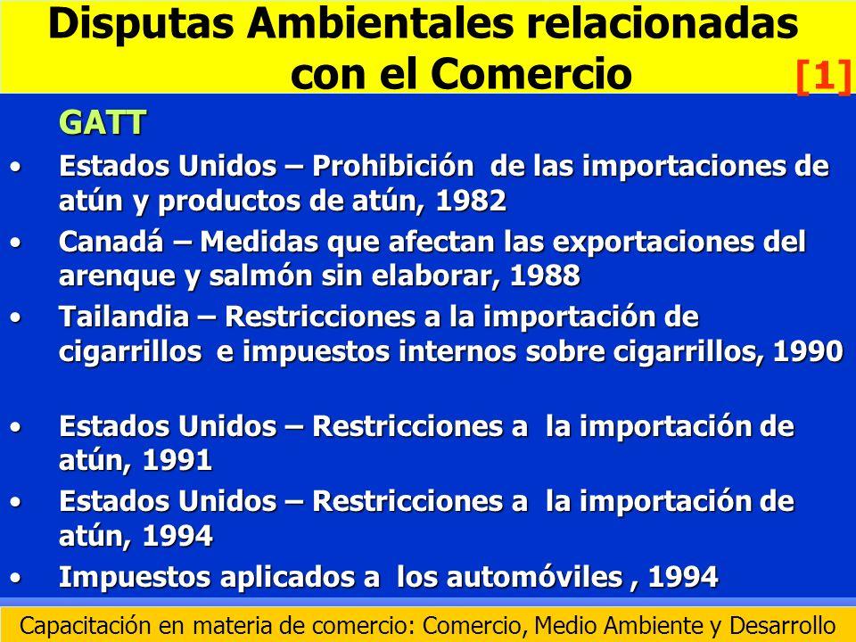 GATT Estados Unidos – Prohibición de las importaciones de atún y productos de atún, 1982Estados Unidos – Prohibición de las importaciones de atún y pr