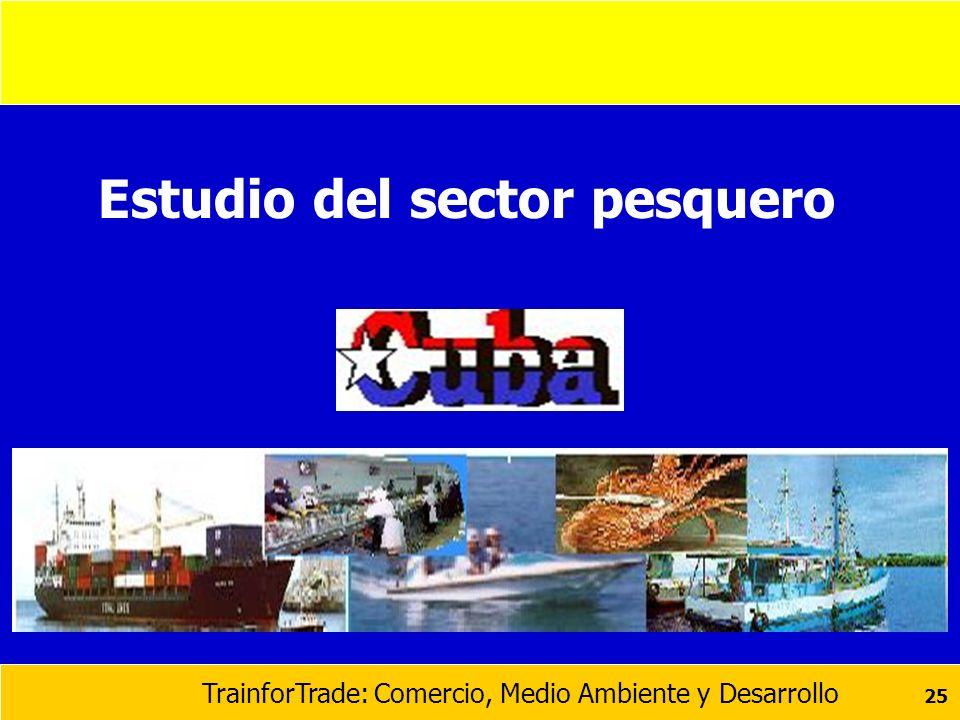 TrainforTrade: Comercio, Medio Ambiente y Desarrollo 25 Estudio del sector pesquero