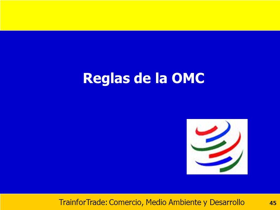 TrainforTrade: Comercio, Medio Ambiente y Desarrollo 45 Reglas de la OMC