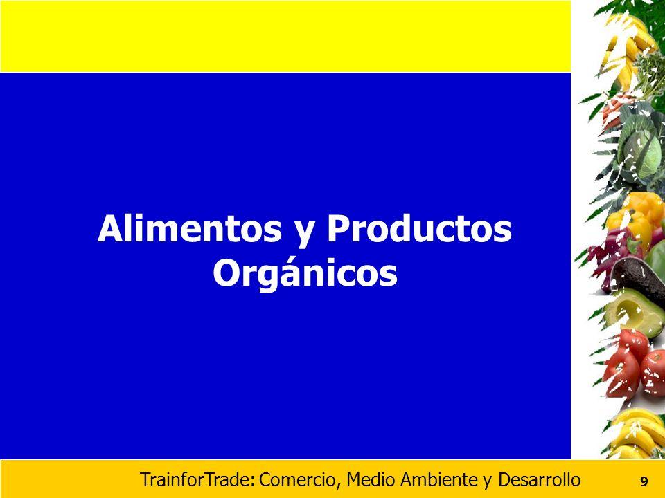 TrainforTrade: Comercio, Medio Ambiente y Desarrollo 9 Alimentos y Productos Orgánicos