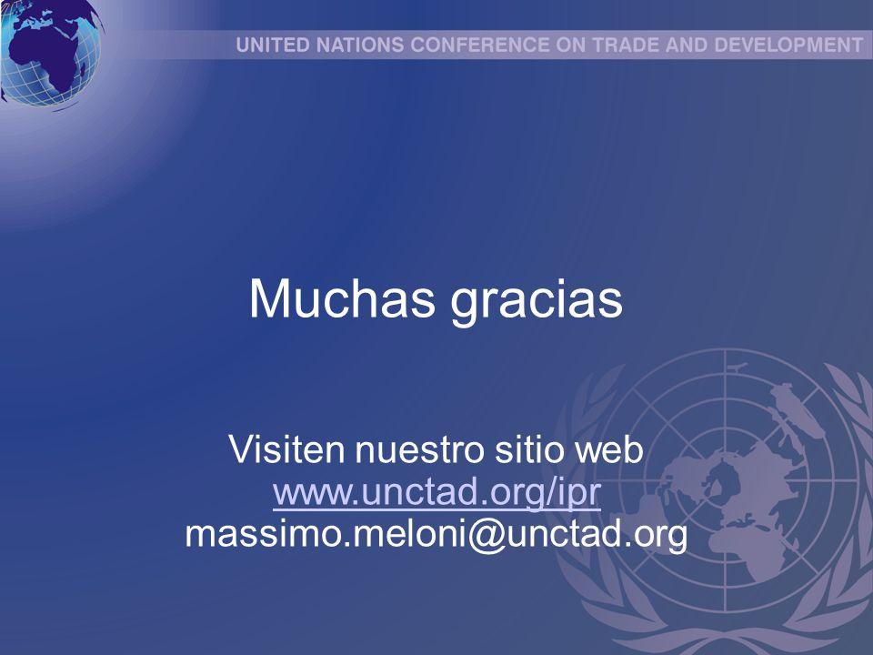 Muchas gracias Visiten nuestro sitio web www.unctad.org/ipr massimo.meloni@unctad.org