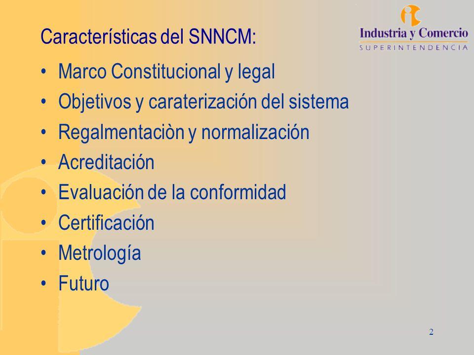 2 Características del SNNCM: Marco Constitucional y legal Objetivos y caraterización del sistema Regalmentaciòn y normalización Acreditación Evaluació