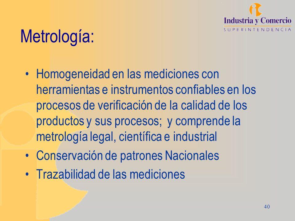 40 Metrología: Homogeneidad en las mediciones con herramientas e instrumentos confiables en los procesos de verificación de la calidad de los producto