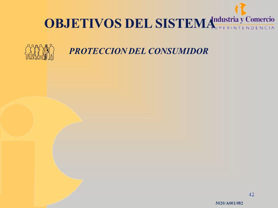 42 OBJETIVOS DEL SISTEMA PROTECCION DEL CONSUMIDOR 3020/A001/082