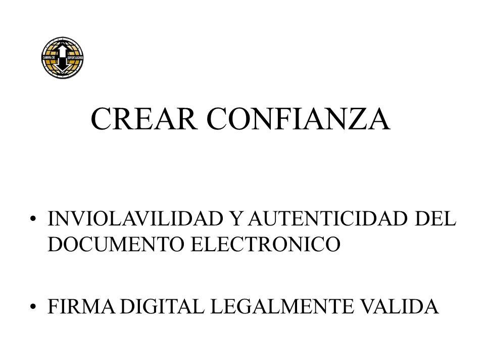 EL DESAFIO LOS PAISES MAS DESARROLLADOS ADOPTAN SISTEMAS LEGALES Y REGLAMENTARIOS QUE RECONOCEN EL VALOR LEGAL DEL DOCUMENTO FIRMADO DIGITALMENTE......Y EXIGEN SU UTILIZACION EN GRADO CRECIENTE