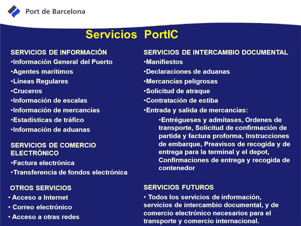 SERVICIOS DE INFORMACIÓN Información General del Puerto Agentes marítimos Líneas Regulares Cruceros Información de escalas Información de mercancías E