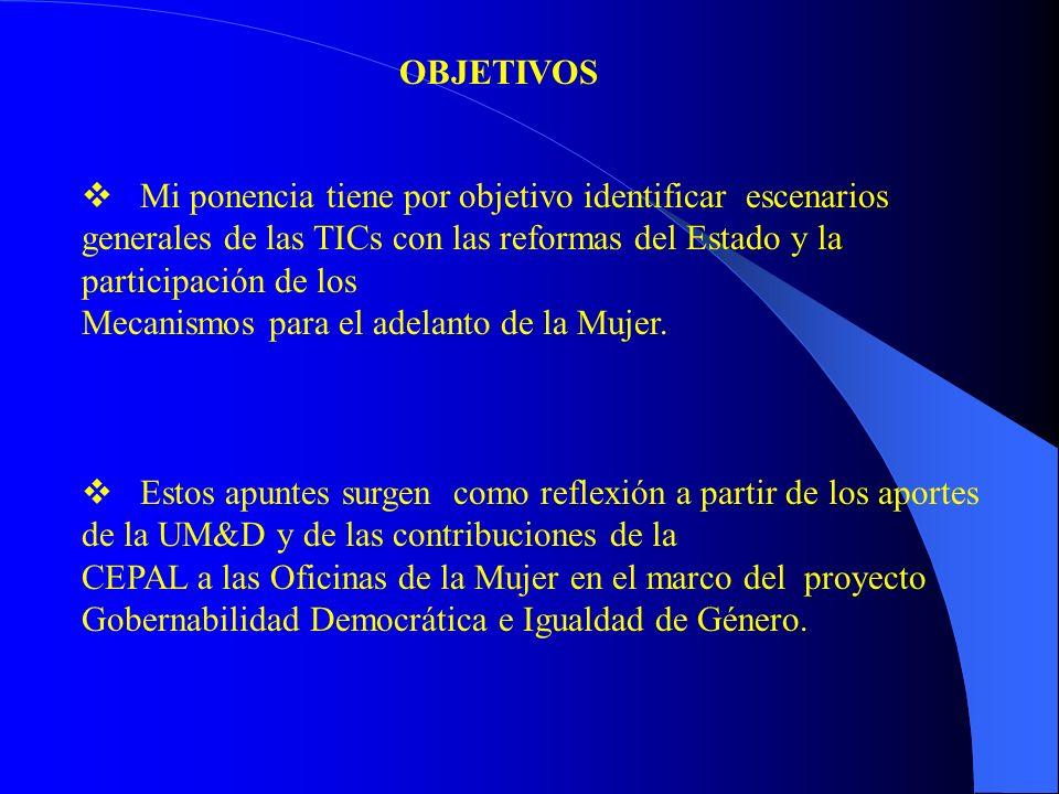 La inclusión de las tecnologías de información y comunicación por los gobiernos son parte de las reformas del Estado desde la década de 1990.