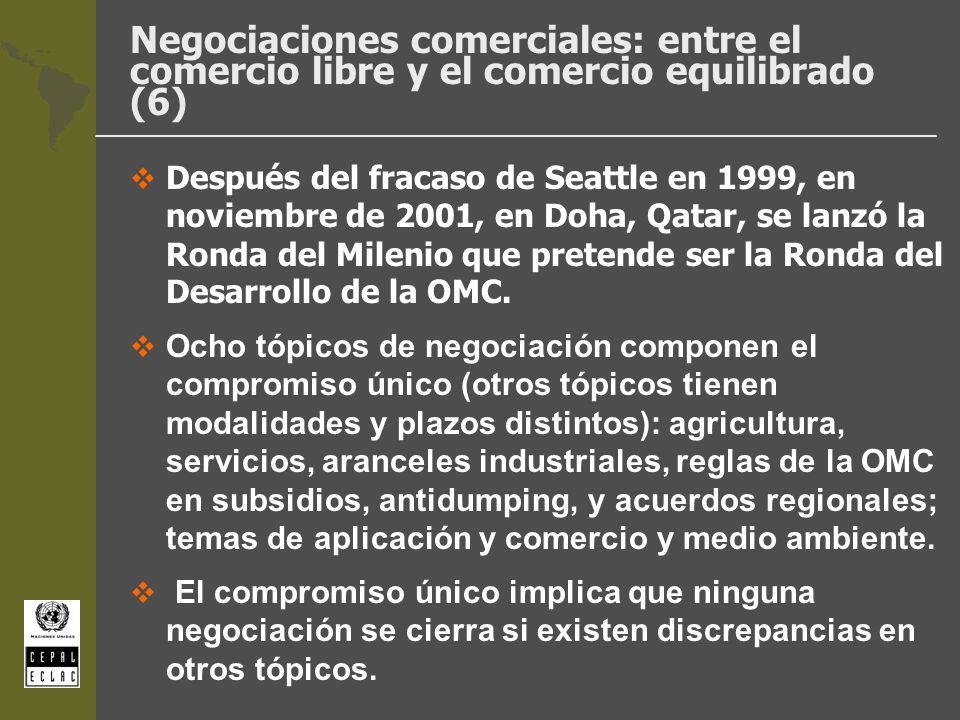 Negociaciones comerciales: entre el comercio libre y el comercio equilibrado (6) Después del fracaso de Seattle en 1999, en noviembre de 2001, en Doha
