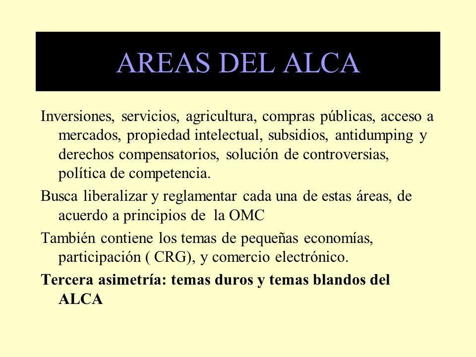 Inversiones El mandato sobre liberalización de las inversiones se inspira en el capítulo 11 del NAFTA/TLCAN.