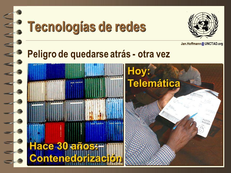 Tecnologías de redes Peligro de quedarse atrás - otra vez Hace 30 años: Contenedorización Hoy: Telemática