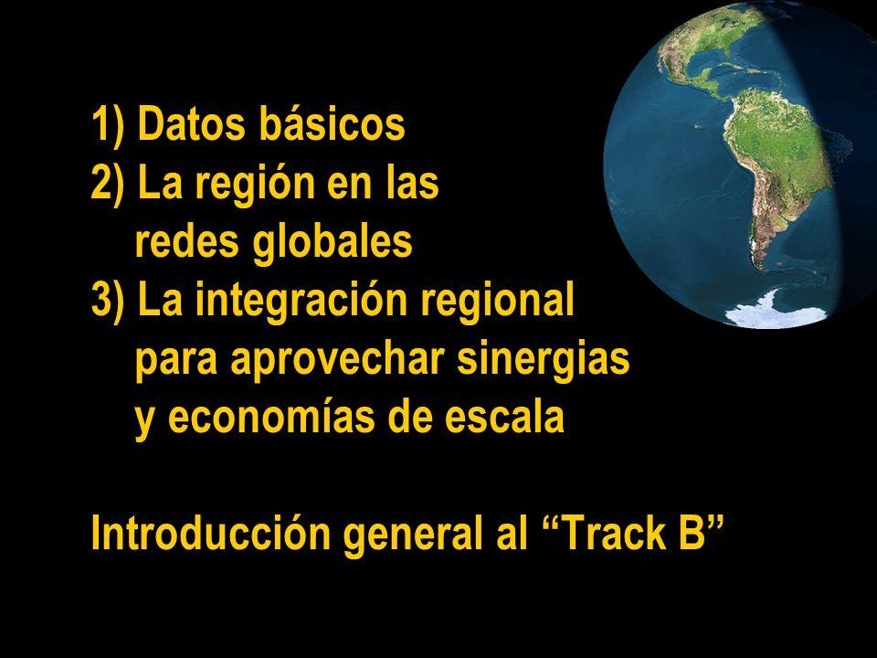 1) Datos básicos 2) La región en las redes globales 3) La integración regional para aprovechar sinergias y economías de escala Introducción general al