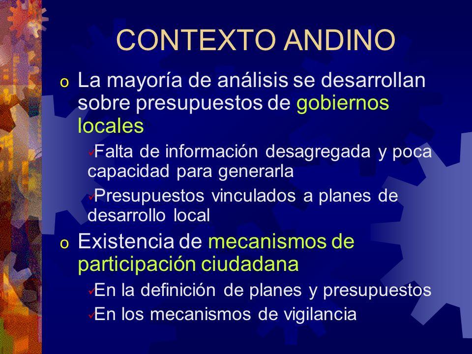 Punto inicial: Primer taller Latinoamericano sobre presupuestos sensibles al genero Quito, 12-16 de Marzo, 2001 En el marco del Programa de DES de UNI