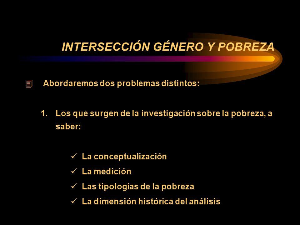 4 PESE A LOS AVANCES AUSENCIA DE UN MODELO EXPLICATIVO QUE ANALICE LOS DETERMINANTES DE LA POBREZA Y LA RELACIÓN CON EL GÉNERO, ASÍ COMO DEL ANÁLISIS DE LA INCIDENCIA DE LOS FACTORES INSTITUCIONALES, POLÍTICOS Y DOMÉSTICOS EN LA POBREZA.