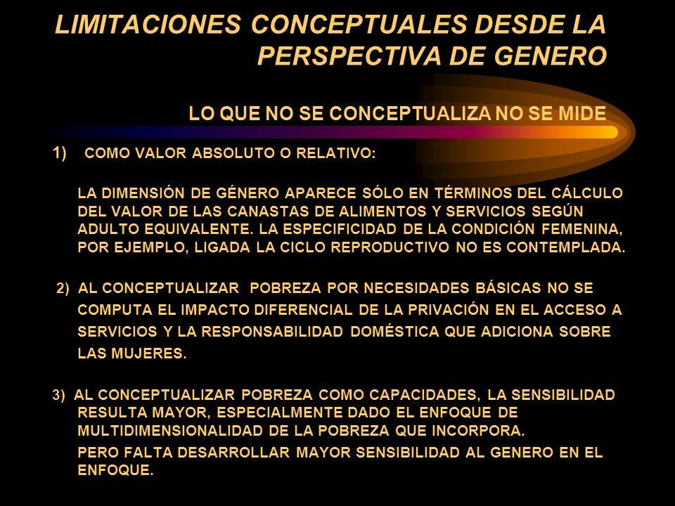 LAS PERSPECTIVAS DEL TIEMPO HISTORICO è CONCEPTUALIZACIÓN Y DATOS DE FOTO 4 REALIDAD DE PROCESO, ESPECIALMENTE SI PENSAMOS LA POVERTY TRAP 4 HISTORICIDAD DE LOS MOMENTOS ESPECIALMENTE EN RELACION CON EL CICLO DE VIDA INDIVIDUAL Y DEL HOGAR 4 POCA SENSIBILIDAD A LAS TRANSICIONES