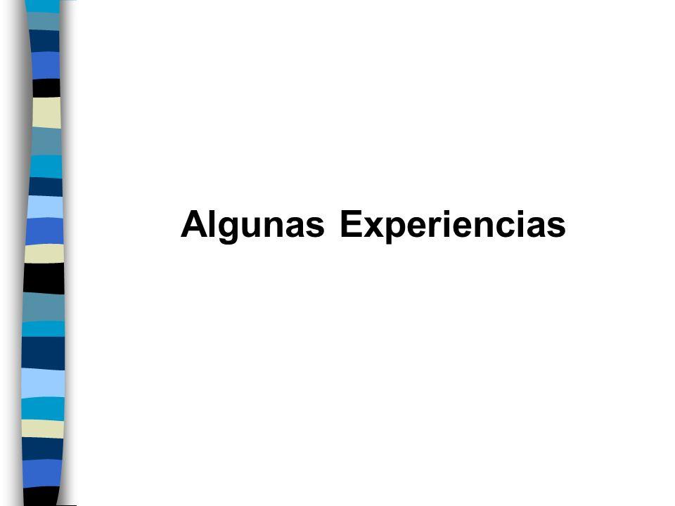 Algunas Experiencias