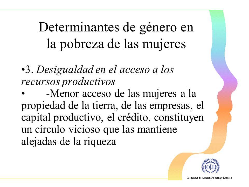 Programa de Género, Pobreza y Empleo 3.