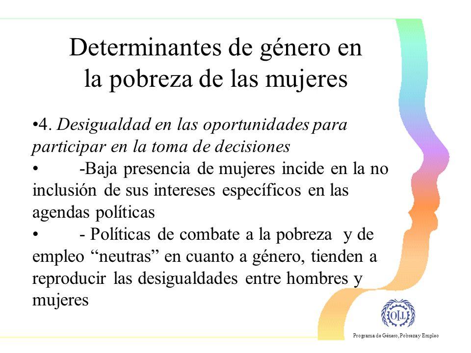 Programa de Género, Pobreza y Empleo 4.