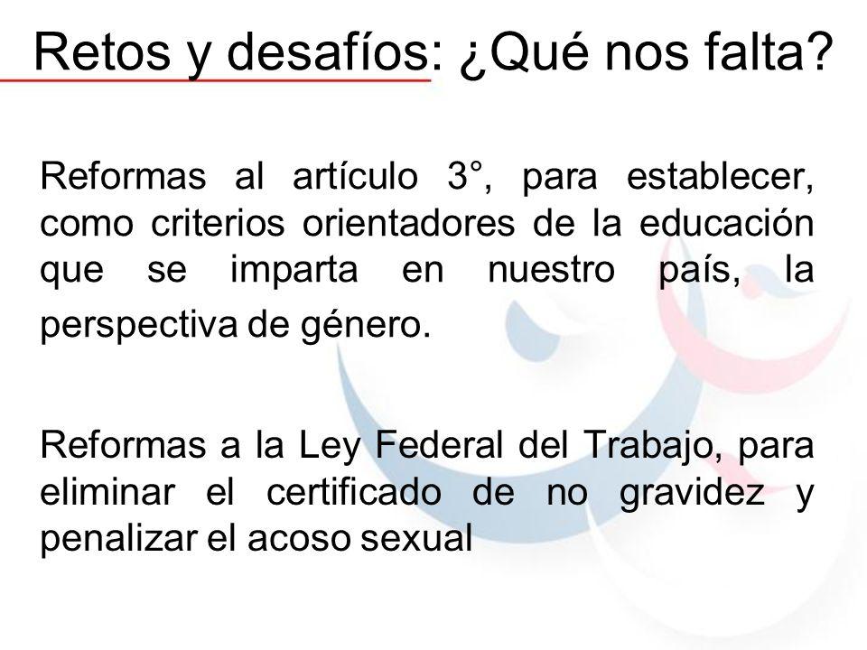 Reformas al artículo 3°, para establecer, como criterios orientadores de la educación que se imparta en nuestro país, la perspectiva de género. Reform