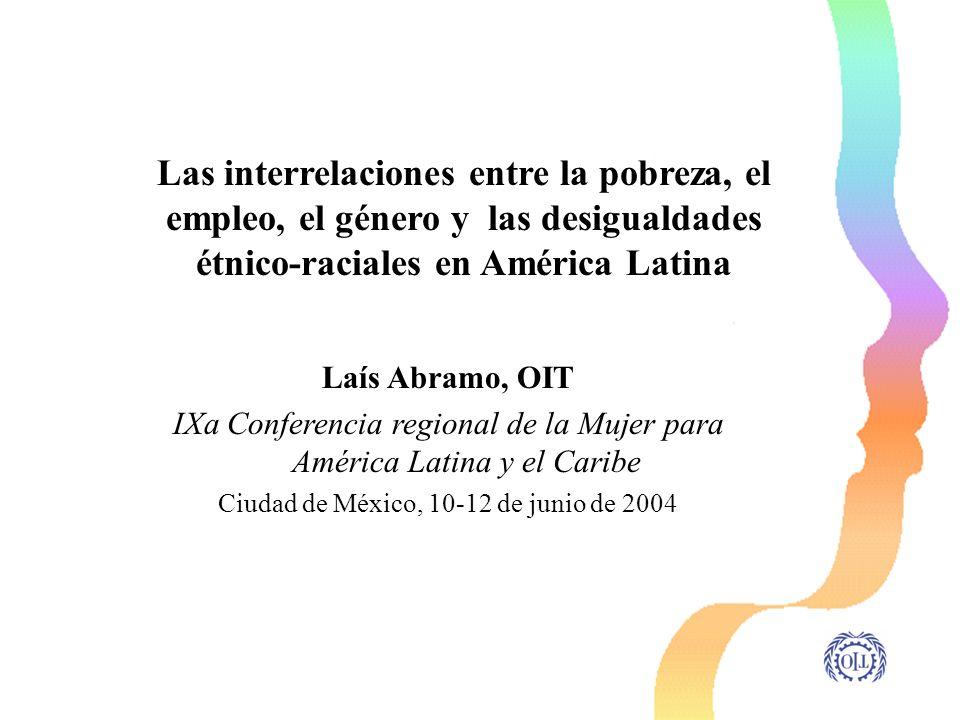 Laís Abramo, OIT IXa Conferencia regional de la Mujer para América Latina y el Caribe Ciudad de México, 10-12 de junio de 2004 Las interrelaciones ent
