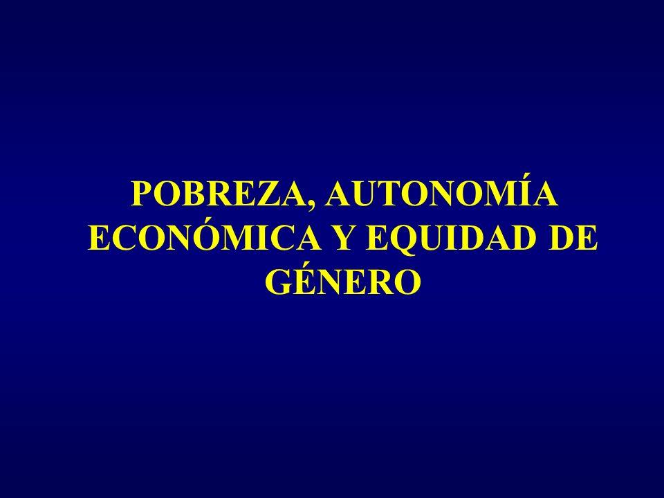 POBREZA, AUTONOMÍA ECONÓMICA Y EQUIDAD DE GÉNERO