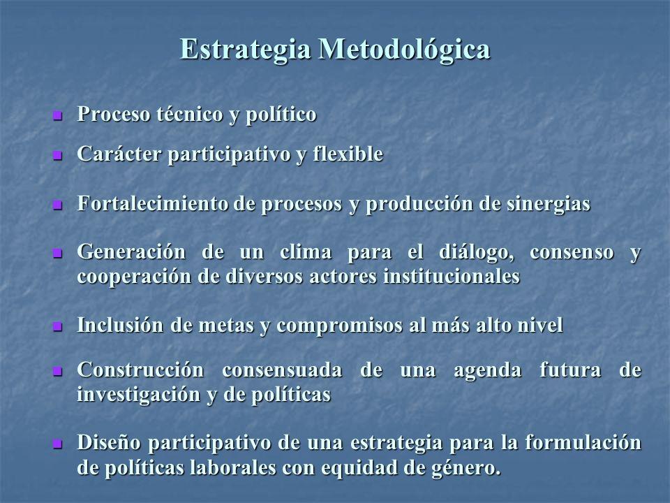 Estrategia Metodológica Proceso técnico y político Proceso técnico y político Carácter participativo y flexible Carácter participativo y flexible Fort