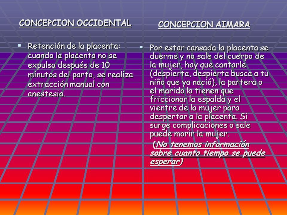 CONCEPCION OCCIDENTAL Retención de la placenta: cuando la placenta no se expulsa después de 10 minutos del parto, se realiza extracción manual con ane