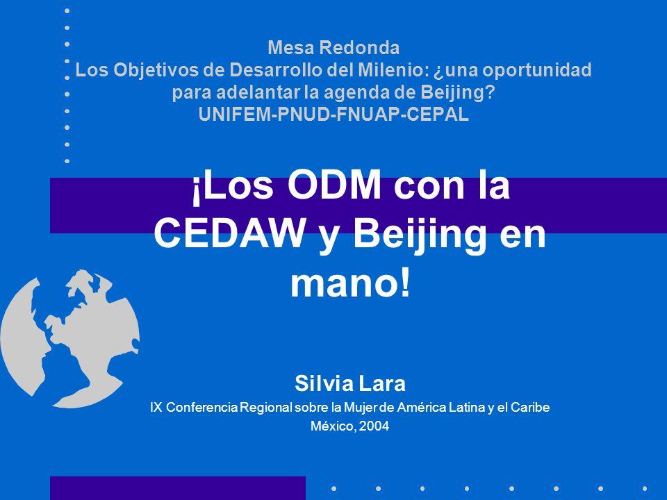 Mesa Redonda Los Objetivos de Desarrollo del Milenio: ¿una oportunidad para adelantar la agenda de Beijing.