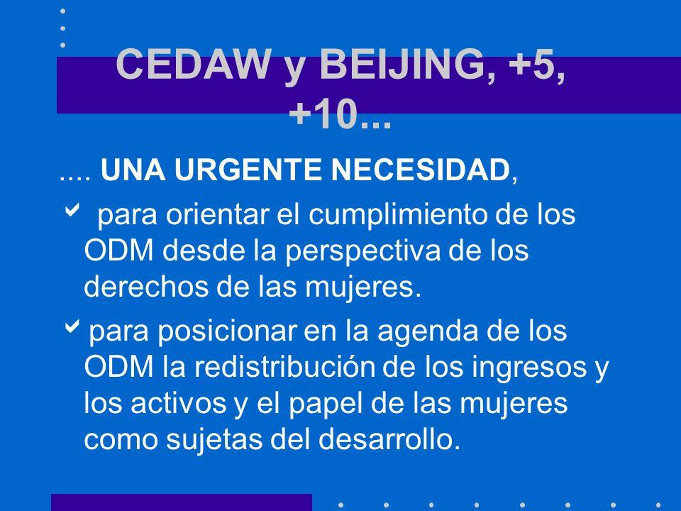 CEDAW y BEIJING, +5, +10.......