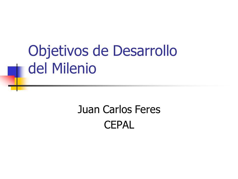 Objetivos de Desarrollo del Milenio Juan Carlos Feres CEPAL