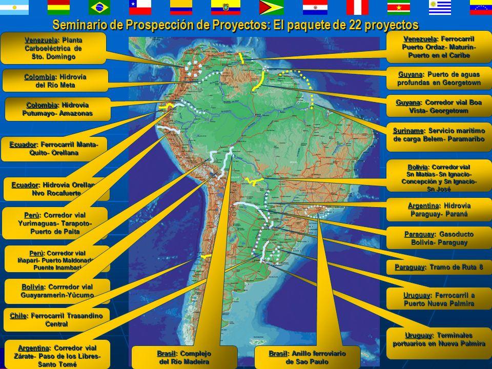 Seminario de Prospección de Proyectos: El paquete de 22 proyectos Venezuela: Planta Carboeléctrica de Sto. Domingo Venezuela: Ferrocarril Puerto Ordaz