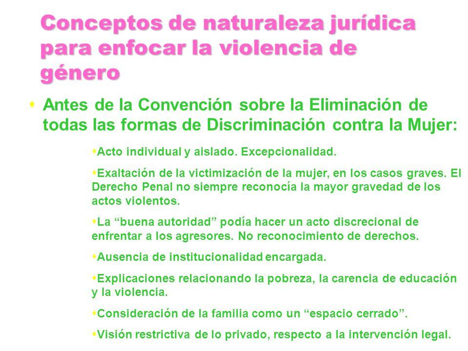 Antes de la Convención sobre la Eliminación de todas las formas de Discriminación contra la Mujer: Acto individual y aislado. Excepcionalidad. Exaltac