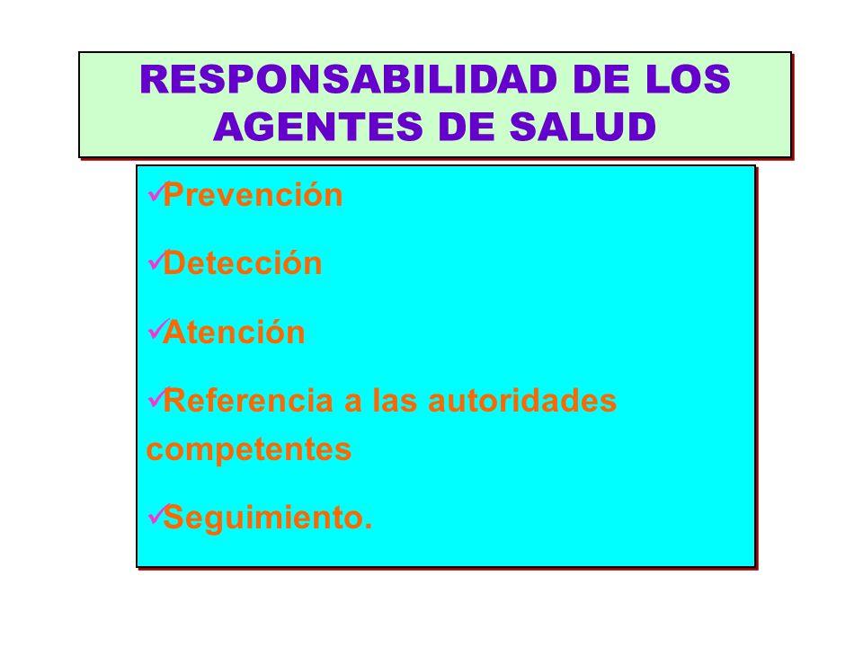Prevención Detección Atención Referencia a las autoridades competentes Seguimiento. Prevención Detección Atención Referencia a las autoridades compete