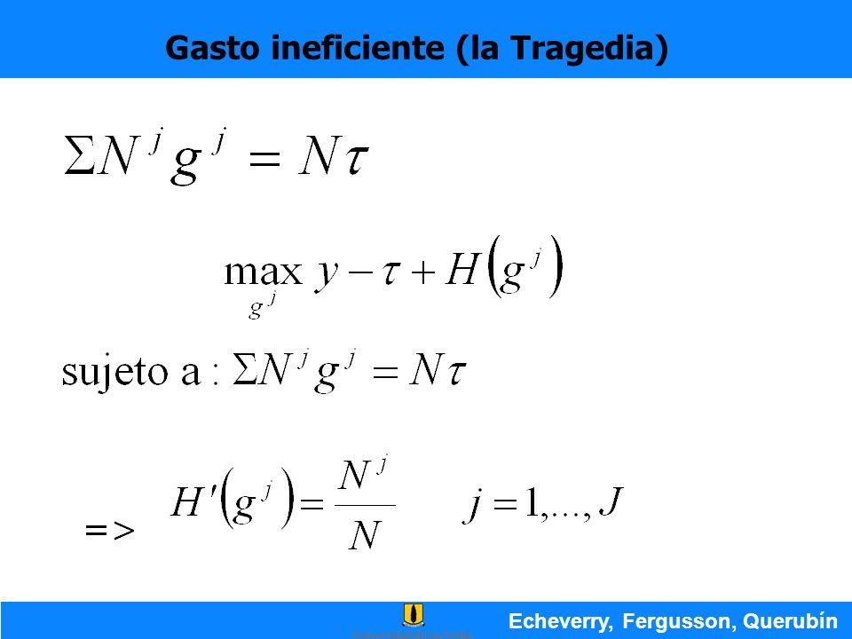 Gasto ineficiente (la Tragedia) Echeverry, Fergusson, Querubín