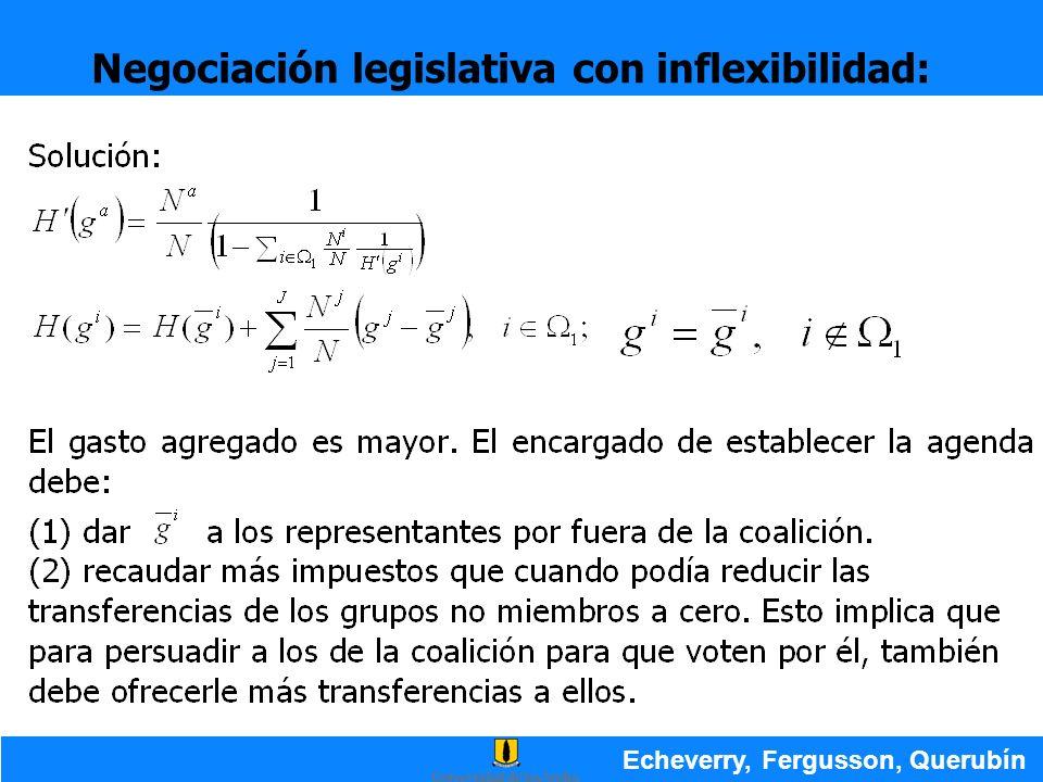 Negociación legislativa con inflexibilidad: Echeverry, Fergusson, Querubín