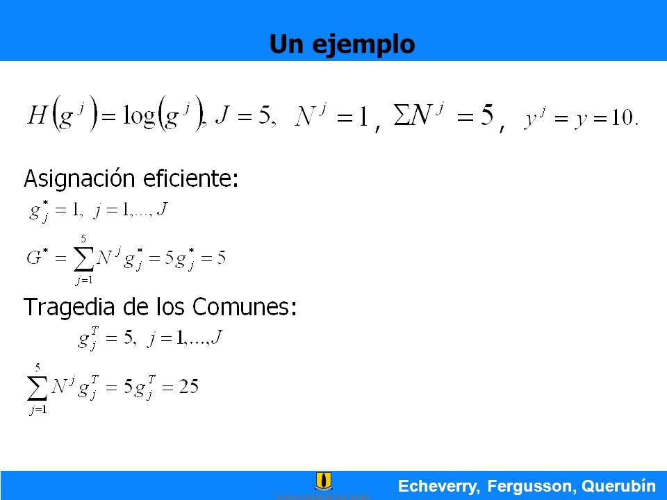 Un ejemplo Echeverry, Fergusson, Querubín