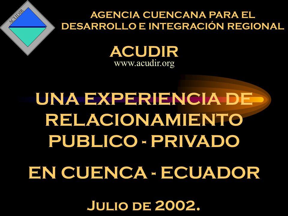 ACUDIR Ámbitos generales de acción de Acudir.