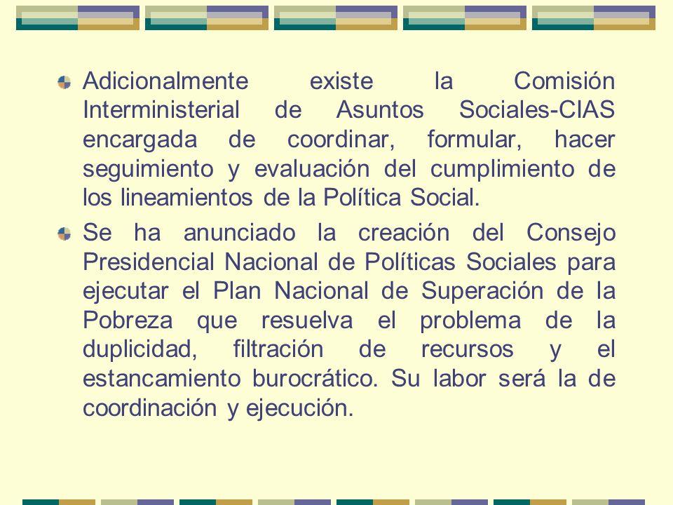 AUTORIDAD SOCIAL EN EL PERÚ En el modelo peruano existe un sector responsable de asignar los recursos a los demás sectores responsables de priorizar,
