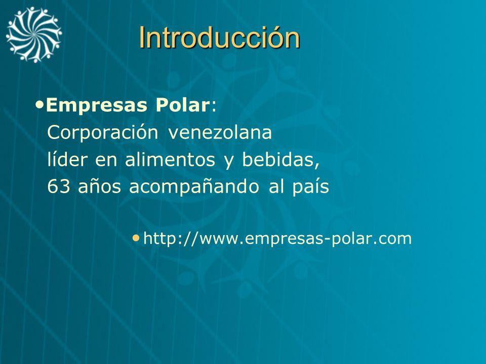 Introducción Empresas Polar: Corporación venezolana líder en alimentos y bebidas, 63 años acompañando al país http://www.empresas-polar.com