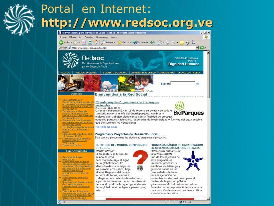 http://www.redsoc.org.ve Portal en Internet: http://www.redsoc.org.ve